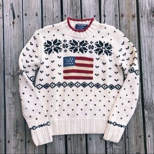 Polo Sport American Flag Knit Holiday Sweater